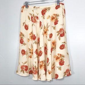 Vintage   90's Floral Flowy Spring Skater Skirt